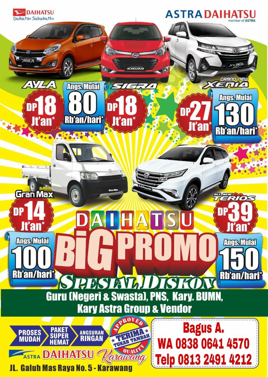 Big Promo Daihatsu angsuran Ringan 2019